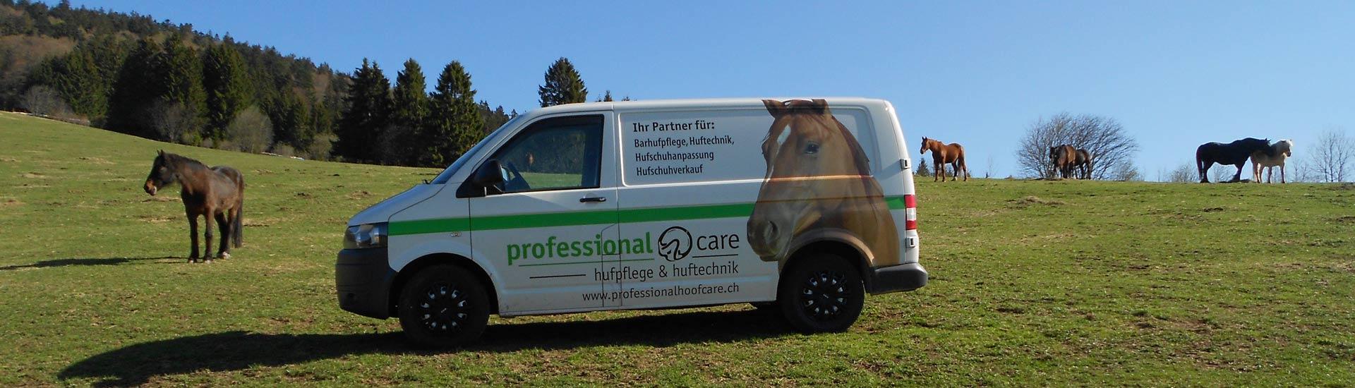 Der Bus von Professional Hoofcare